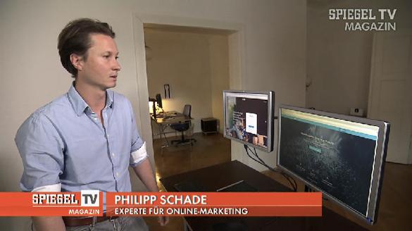 Philipp Schade als Experte für Online Marketing bei Spiegel TV